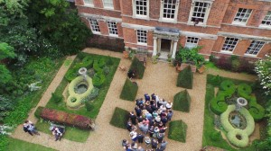Aerial Wedding  Photography Island Hall Godmanchester,